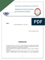 Sector Servicios en El Peru