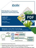Metabolix - PHA Modifiers as Polymeric Plasticizers and Process Aids