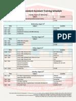 fall 2014 nu ra training schedule
