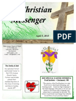 April 5 Newsletter
