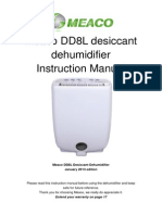 Meaco DD8L Dehumidifier Instruction Manual_January_2013