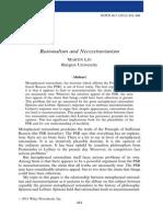 Rationalism and Necessitarianism - Martin Lin