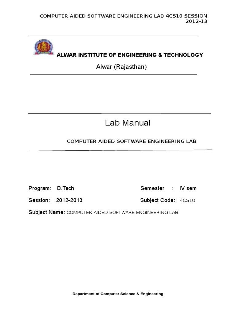 case lab manual class computer programming use case rh scribd com software engineering lab manual pdf software engineering lab manual pdf