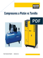 Comparativa Tornillo vs Piston