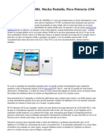 LG Optimus L7 (P700). Mucha Pantalla, Poca Potencia (196 €)