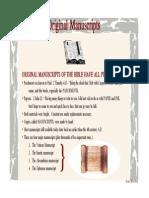 Original Manuscripts