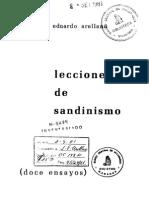 Arellan Jorge Eduardo _ Lecciones de Sandinismo