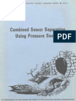 Combined Sewer Separation Using Pressure Sewers (ASCE)