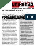 La huelga de contratas de Movistar se hace estatal