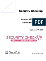 Guide install security checkup