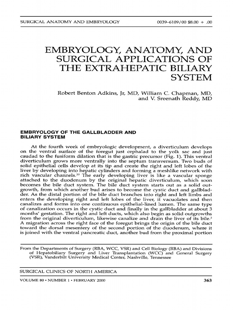 363-379 Embryology, Anatomy, And Surgical Applications of the ...