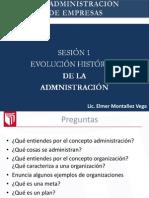 Evolución Histórica Administración.