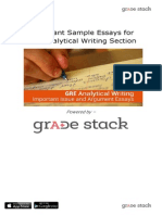 Important Sample Essays for GRE Analytical Writing Section