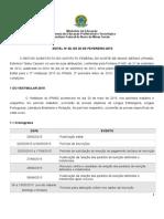 Edital 2º Vestibular 2015-2- Corrigido
