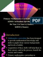 2 Primary Maths Curriculum MTE3102