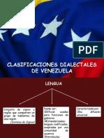 Clasificaciones Dialectales Venezuela