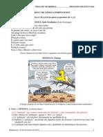 Gabarito Da Prova Do Processo Seletivo CAVN 2014 Integrado