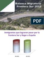 Balance Migratorio 2012