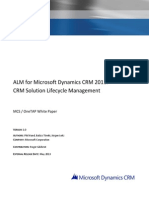 ALM for CRM 2011 - CRM Solution Lifecycle Management