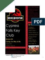 D3N Cypress Falls DCON/March Newsletter