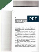 Dear Mr. Gandhi