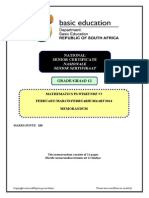 Mathematics P3 Feb-March 2014 Memo Afr & Eng