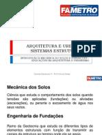 Aula 02 - Introdução e Aplicação Na Arquitetura Da Mec. Solos e Fundações