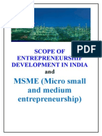 Scope of Entrepreneurship Development in India