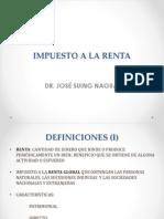 Impuesto a La Renta por Dr. Jose Suing Nagua