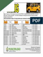 Precios TAXI 2013