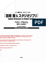 34895670 Hayao Miyazaki Studio Ghibli Best Album for Easy Piano Joe Hisaishi Sheet Music 2 Copy