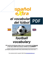 Vocabulario Especifico de Fútbol