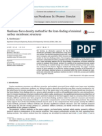 Nonlinear Force Density Method for the Form-finding of Minimal Surface Membrane Structures