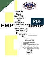 Informe Del Proyecto de Emprendimiento- Nutrisoy