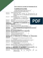 Reglamento Especifico Sistema de Programacion de Operaciones
