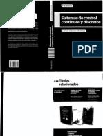 Sistemas de Control Continuos y Discretos - Carlos Valdivia