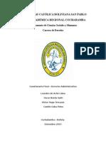Derecho Administrativo Bolivia