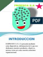 Presentación EMPROESCA S.A