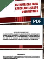 Ecuaciones empíricas para calcular el gasto volumétrico.pptx