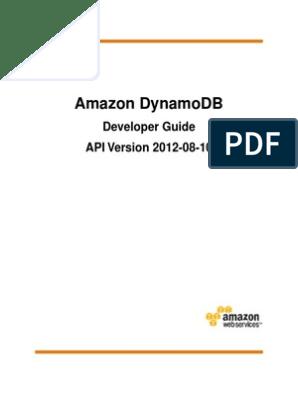 Dynamodb Dg | Scalability | Database Index