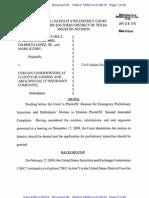Judge's Order in Stanford Case