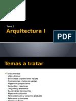 Arquitectura 1Tema 1