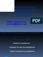 Introduccion a La Gestion de Recursos Humanos Por Competencias