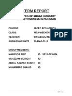 TERM REPORT-ANALYSIS OF SUGAR INDUSTRY OF PAKISTAN.pdf