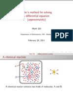 Eulers-method Best Example of Using Euler Method in Chemical Reaction