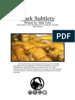 L5R 4th Ed - Adventure - Dark Subtlety (Fanmade) (Aug 2011)