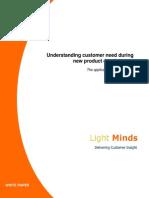 Understanding Customer Need During New Product Development