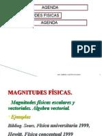 Agenda * Magnitudes Fisicas Agenda