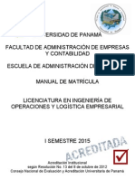 FAECO Manual Matricula 1sem 2015 Logistica