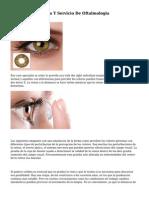 Examen De La Vista Y Servicio De Oftalmologia